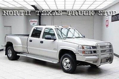 2004 Chevy 3500 Diesel 4x4 Dually LT Heated Leather DVD Bose Crew