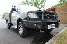 2005 Toyota Hilux KUN26R MY05 SR Silver 5 Speed Manual Cab Chassis Derwent Park Glenorchy Area Preview