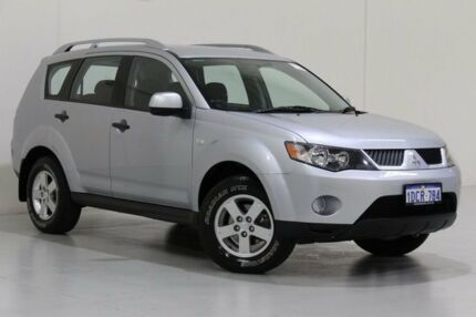 2009 Mitsubishi Outlander ZG MY09 LS Silver 6 Speed CVT Auto Sequential Wagon Bentley Canning Area Preview