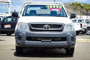 2011 Toyota Hilux TGN16R MY12 Workmate Glacier White 4 Speed Automatic Cab Chassis