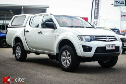 2013 Mitsubishi Triton MN MY13 GLX Double Cab White 4 Speed Sports Automatic Utility Garbutt Townsville City Preview