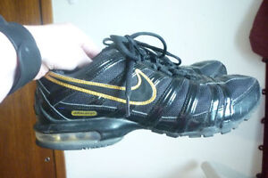 Nike Air Max Black And Gold Shoes