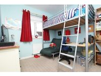 SOLD *******$$High bed with desk and futon