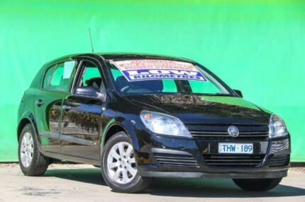2005 Holden Astra AH MY05 CD Black 4 Speed Automatic Hatchback Ringwood East Maroondah Area Preview