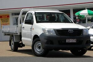 2012 Toyota Hilux TGN16R MY12 Workmate White 5 Speed Manual Cab Chassis Woolloongabba Brisbane South West Preview