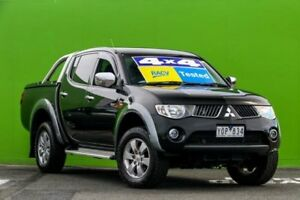2009 Mitsubishi Triton ML MY09 GLX-R Double Cab Black 5 Speed Manual Utility Ringwood East Maroondah Area Preview