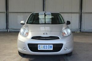 2014 Nissan Micra K13 MY13 ST Silver 4 Speed Automatic Hatchback Invermay Launceston Area Preview