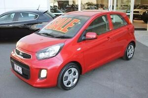 2016 Kia Picanto TA MY17 SI Red 4 Speed Automatic Hatchback Mount Gravatt Brisbane South East Preview