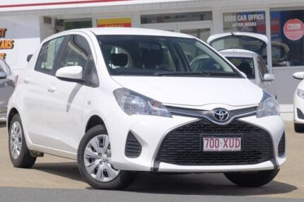 2016 Toyota Yaris NCP130R Ascent Glacier 5 Speed Manual Hatchback Woolloongabba Brisbane South West Preview