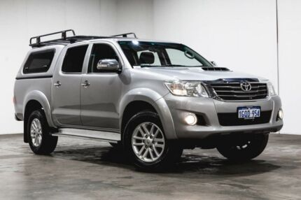 2015 Toyota Hilux KUN26R MY14 SR5 Double Cab Silver 5 Speed Automatic Utility Welshpool Canning Area Preview