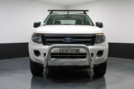 2013 Ford Ranger PX XL Double Cab 4x2 Hi-Rider White 6 Speed Manual Utility Glendale Lake Macquarie Area Preview