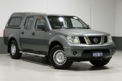 2011 Nissan Navara D40 MY11 RX (4x4) Grey 6 Speed Manual Dual Cab Pick-up Bentley Canning Area Preview