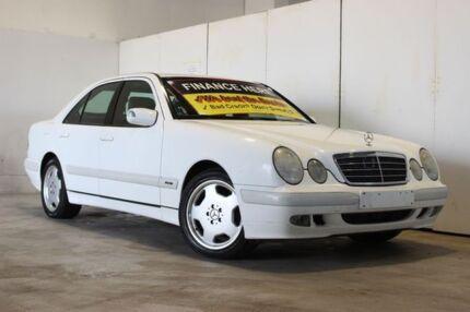 2000 Mercedes-Benz E200K W210 Classic White 5 Speed Sequential Auto Sedan Underwood Logan Area Preview