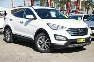 2013 Hyundai Santa Fe DM MY13 Elite White 6 Speed Sports Automatic Wagon Blacktown Blacktown Area Preview