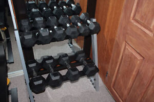 10 Pieces Dumbells comes with Rack for sale $350