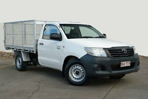 2014 Toyota Hilux TGN16R MY14 Workmate 4x2 White 4 Speed Automatic Cab Chassis Kedron Brisbane North East Preview