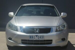 2008 Honda Accord 8th Gen V6 White 5 Speed Sports Automatic Sedan