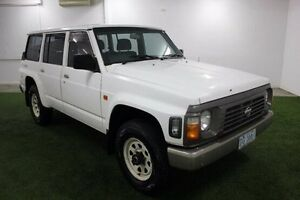 1997 Nissan Patrol GQ II RX White 5 Speed Manual Wagon Moonah Glenorchy Area Preview