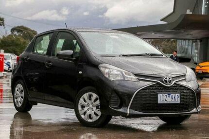 2016 Toyota Yaris Black Manual Hatchback