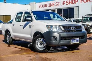 2011 Toyota Hilux TGN16R MY10 Workmate White 4 Speed Automatic Utility Westminster Stirling Area Preview
