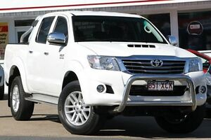 2014 Toyota Hilux KUN26R MY14 SR5 Double Cab Glacier White 5 Speed Automatic Utility Woolloongabba Brisbane South West Preview