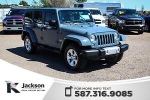 2014 Jeep Wrangler Unlimited Sahara - Touchscreen, Leather, Remo