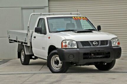 2008 Nissan Navara D22 MY2008 DX White 5 Speed Manual Cab Chassis Hillcrest Logan Area Preview