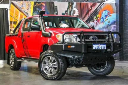 2008 TRD Hilux GGN25R 4000S Red 5 Speed Automatic Utility