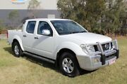 2008 Nissan Navara D40 ST-X White 6 Speed Manual Utility Ormeau Gold Coast North Preview