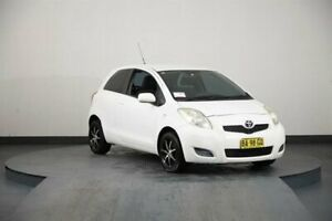 2008 Toyota Yaris NCP90R YR White 4 Speed Automatic Hatchback