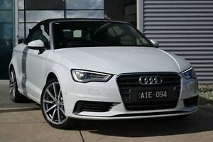 2016 Audi A3 8V MY16 Attraction S tronic Black 7 Speed Sports Automatic Dual Clutch Cabriolet Burwood Whitehorse Area Preview