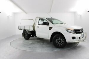 2014 Ford Ranger PX XL 4x2 White 6 Speed Manual Cab Chassis Launceston Launceston Area Preview