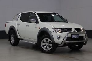 2008 Mitsubishi Triton ML MY08 GLX-R (4x4) White 4 Speed Automatic 4x4 Bentley Canning Area Preview
