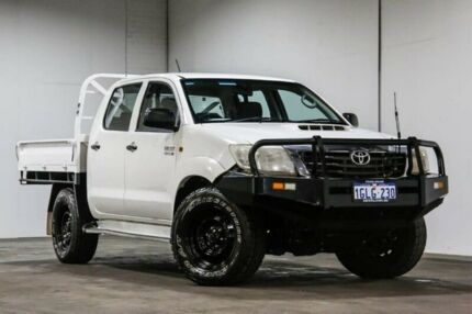 2012 Toyota Hilux SR SR White Manual Cab Chassis - Dual Cab