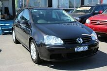 2007 Volkswagen Golf V MY07 Comfortline DSG Black 6 Speed Sports Automatic Dual Clutch Hatchback Heatherton Kingston Area Preview