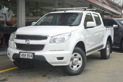 2014 Holden Colorado RG MY14 LX Crew Cab White 6 Speed Manual Utility Somerton Park Holdfast Bay Preview