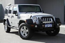 2012 Jeep Wrangler JK MY2012 Unlimited Sport Silver 5 Speed Automatic Softtop Osborne Park Stirling Area Preview
