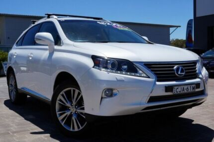 2012 Lexus RX450H GYL15R MY12 Luxury White 6 Speed Constant Variable Wagon