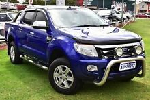2013 Ford Ranger PX XLT Double Cab Blue 6 Speed Manual Utility Myaree Melville Area Preview