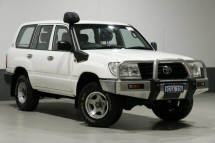 2005 Toyota Landcruiser HZJ105R (4x4) White 5 Speed Manual 4x4 Wagon Bentley Canning Area Preview