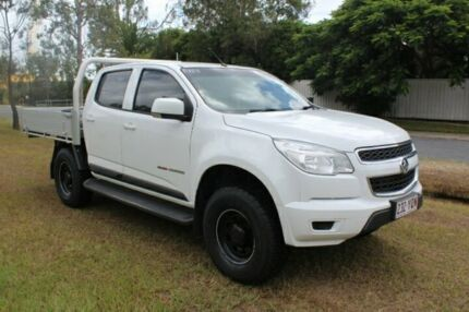 2014 Holden Colorado RG MY15 LS Crew Cab White 6 Speed Manual Cab Chassis Ormeau Gold Coast North Preview