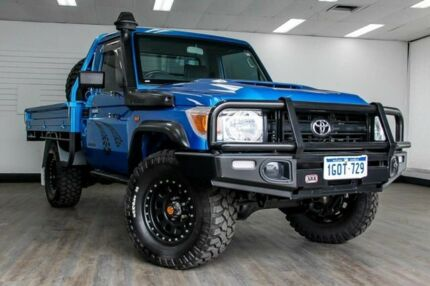 2009 Toyota Landcruiser VDJ79R Workmate Blue 5 Speed Manual Cab Chassis Victoria Park Victoria Park Area Preview
