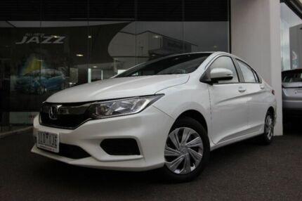 2017 Honda City GM MY18 VTi White 1 Speed Constant Variable Sedan