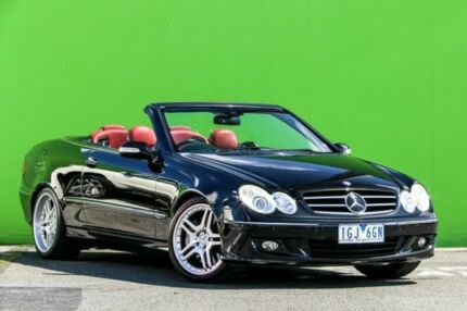 2007 Mercedes-Benz CLK350 A209 MY07 Avantgarde Black 7 Speed Sports Automatic Cabriolet Ringwood East Maroondah Area Preview