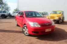 2006 Toyota Corolla ZZE122R 5Y Ascent Lucifer Red 4 Speed Automatic Sedan The Gardens Darwin City Preview