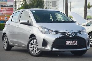 2014 Toyota Yaris NCP130R Ascent Silver Pearl 4 Speed Automatic Hatchback Macgregor Brisbane South West Preview