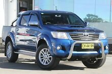 2015 Toyota Hilux KUN26R MY14 SR5 (4x4) Blue 5 Speed Automatic Dual Cab Pick-up Old Guildford Fairfield Area Preview