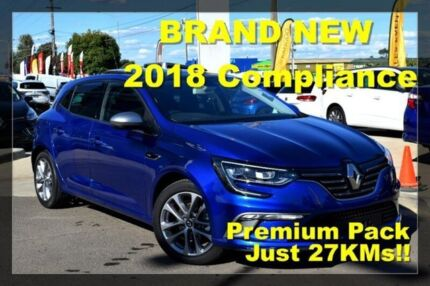 2018 Renault Megane BFB GT-Line EDC Blue 7 Speed Sports Automatic Dual Clutch Hatchback