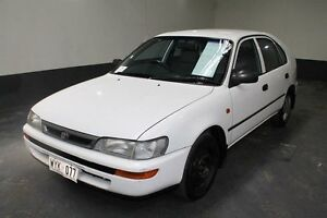 1997 Toyota Corolla AE102R Conquest Seca White 4 Speed Automatic Liftback Pennington Charles Sturt Area Preview