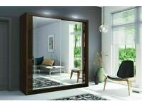 🔥💖BUMPER OFFER 2 DOORS SLIDING WARDROBE WITH FULL MIRRORS ALL SHELVES & RAILS INCLUDED